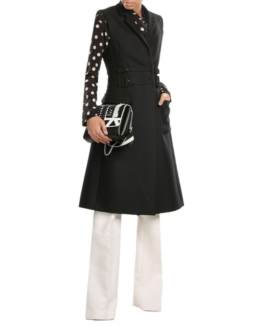 Carven | Black Sleeveless Cotton Coat With Virgin Wool | Lyst