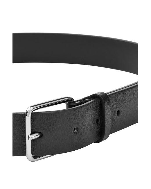 jil sander leather belt black in black for lyst
