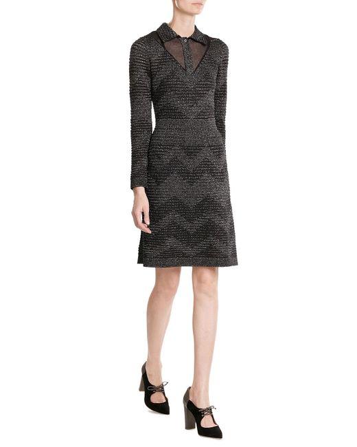 M Missoni | Black Metallic Knit Dress | Lyst
