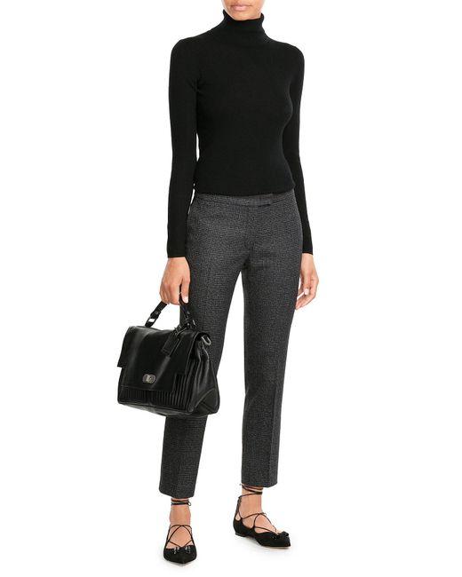 HUGO | Black Virgin Wool Turtleneck Pullover | Lyst