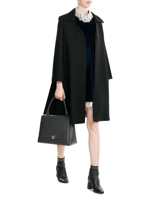 Maison Margiela | Black Wool Coat | Lyst