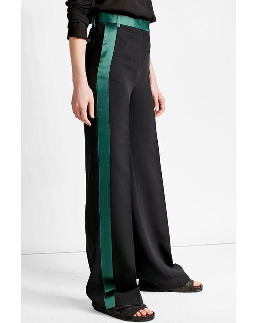 Victoria, victoria beckham Wide-leg Tuxedo Pants in Black | Lyst