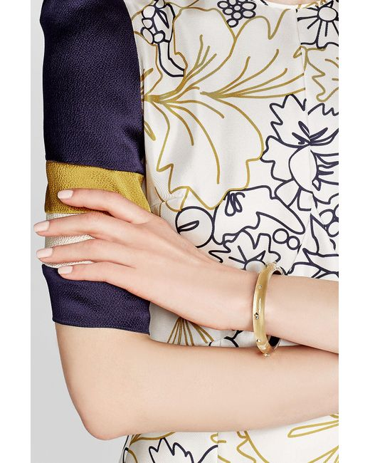 Alexis Bittar | Metallic Lucite Bangle With Gold-plated Embellishments | Lyst