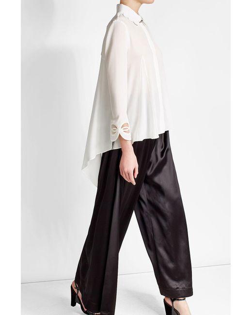Fendi | Green Silk Blouse | Lyst