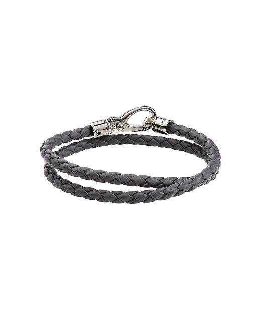 Tod's | Multicolor Braided Leather Wrap Bracelet for Men | Lyst