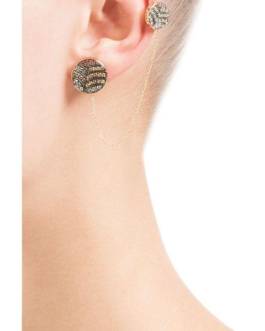 Ileana Makri   Metallic 18-karat Gold And Sapphire Ear Cuff   Lyst