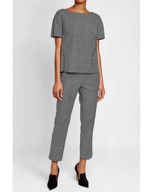 Max Mara | Gray Printed Pants With Wool | Lyst