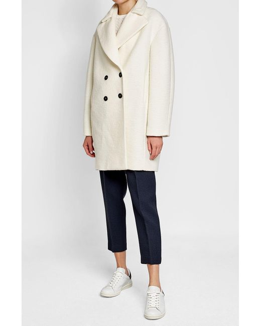 Carven | Natural Coat With Virgin Wool | Lyst