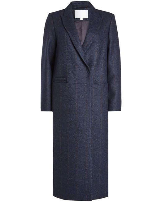 Lala Berlin | Blue Coat With Wool And Silk | Lyst