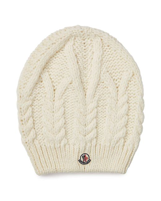 Moncler   Natural Hat With Wool And Alpaca   Lyst