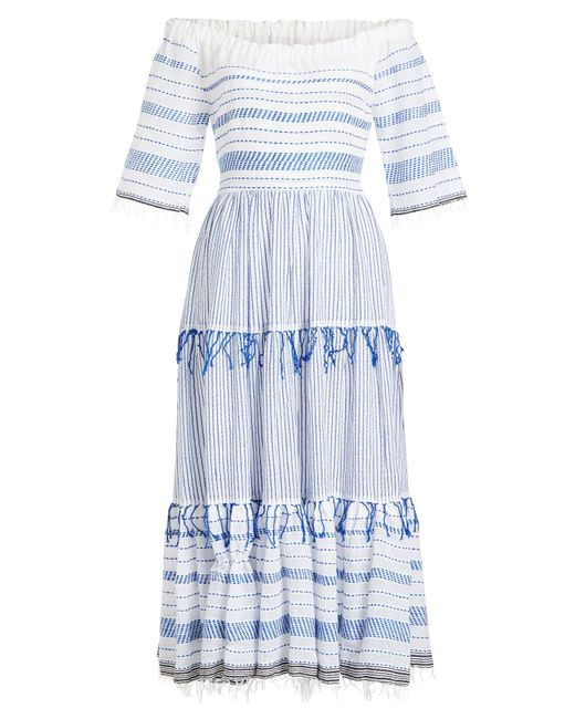 Lemlem - Blue Tiki Cotton Maxi Dress - Lyst