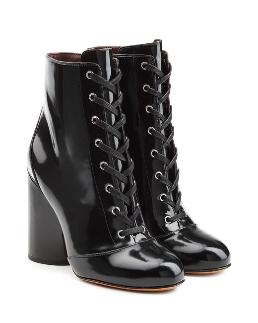 Marc Jacobs - Black Patent Leather Ankle Boots - Lyst