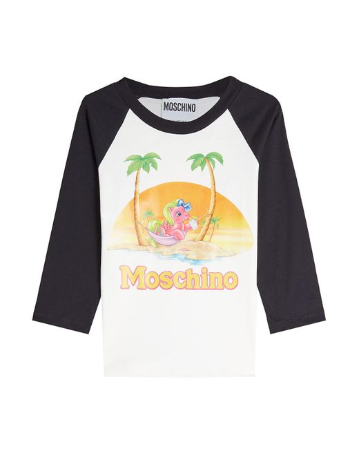 Moschino - Multicolor Little Pony Printed Cotton Top - Lyst