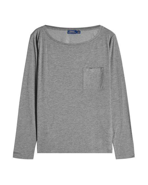 Polo Ralph Lauren - Gray Jersey T-shirt - Lyst
