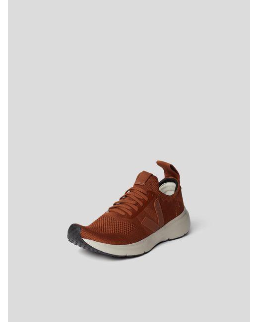 Rick Owens Brown Sneaker mit Label-Details
