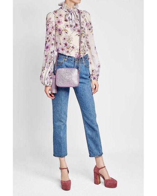 Anya Hindmarch | Multicolor Smiley Metallic Leather Shoulder Bag | Lyst