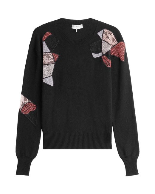 Emilio Pucci - Black Wool Pullover With Silk And Cashmere - Lyst