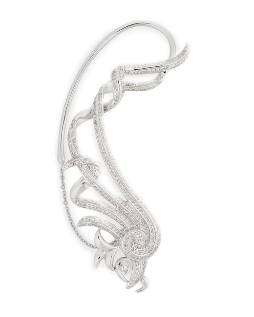 Nikos Koulis | 18kt White Gold Fontana Earring With White Diamonds | Lyst