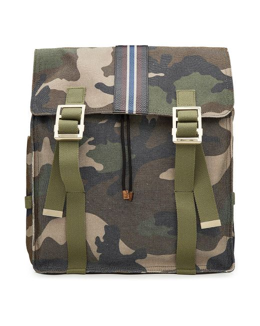 Valentino - Multicolor Camouflage Printed Backpack With Leather for Men - Lyst