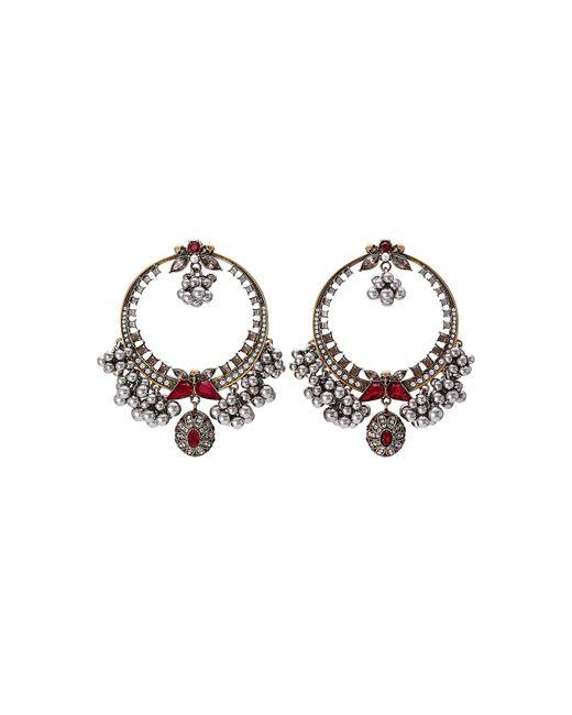 Alexander McQueen - Metallic Brass Earrings - Lyst