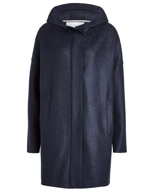 Harris Wharf London - Blue Virgin Wool Coat for Men - Lyst