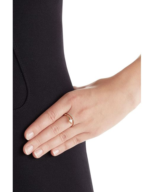 Delfina Delettrez | Metallic Marry Me 18kt Pink Gold Ring With Diamonds | Lyst