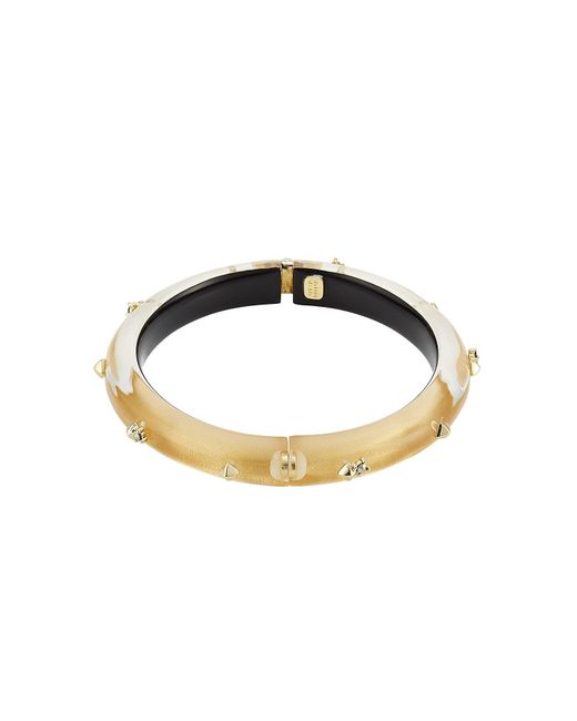 Alexis Bittar - Metallic Lucite Bangle With Gold-plated Embellishments - Lyst