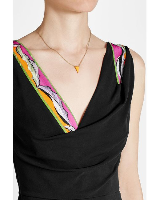 Alexis Bittar | Metallic Gold-plated Necklace With Lucite | Lyst