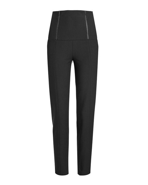 Tibi - Black High-waist Pants With Zippers - Lyst