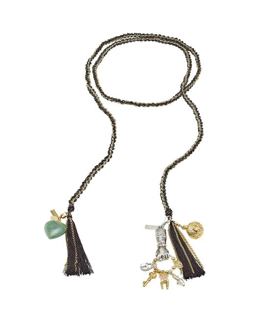 Missoni - Multicolor Woven Chain Tassel Bracelet - Lyst
