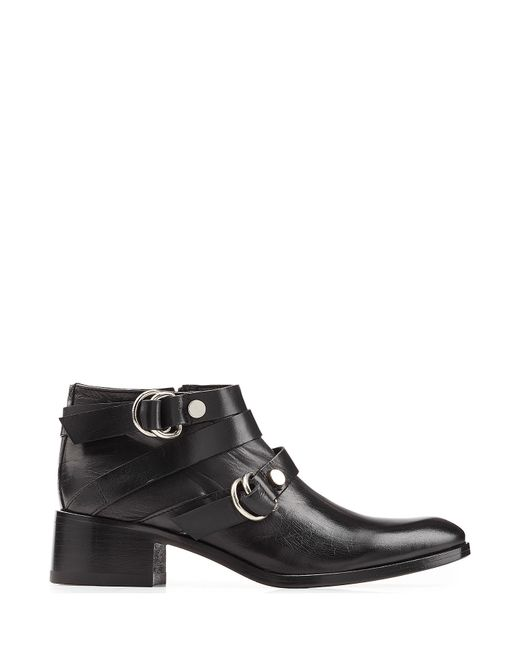 McQ | Multicolor Leather Ridley Harness Ankle Boots - Black | Lyst