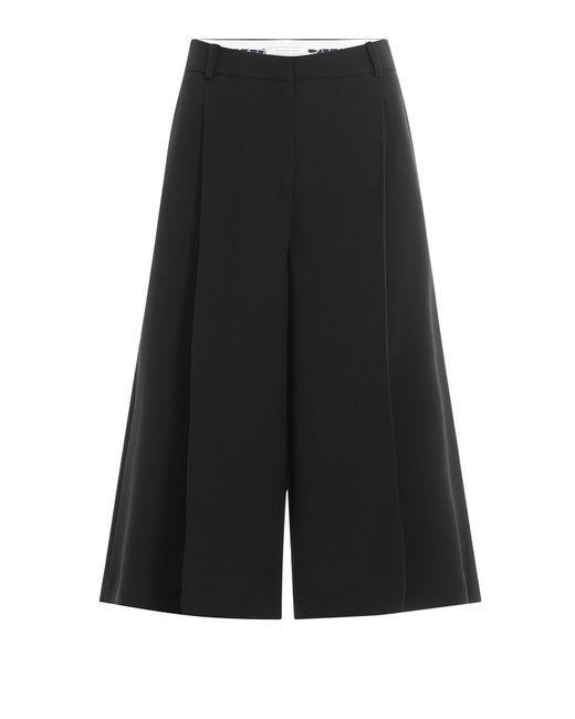 Diane von Furstenberg | Black Wide Leg Culottes | Lyst