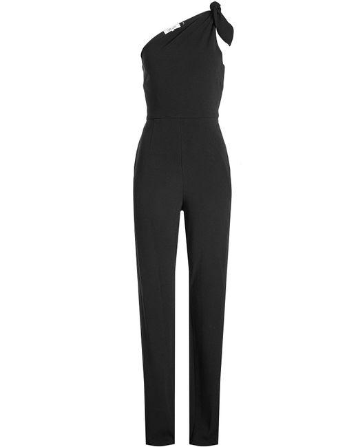Diane von Furstenberg - Black One-shoulder Jumpsuit - Lyst