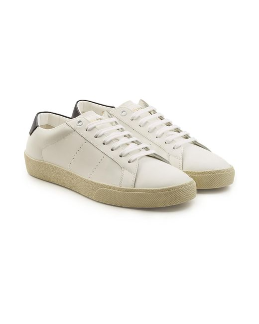 7cb426881f222 Saint Laurent Andy Low Top Sneaker. Saint laurent Sl06 Low-top Leather  Trainers in White for Men