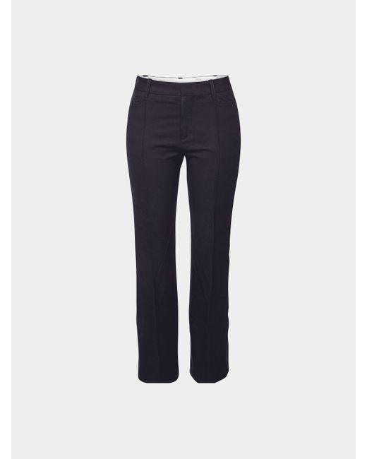 Joseph Blue Cropped Flared Pants