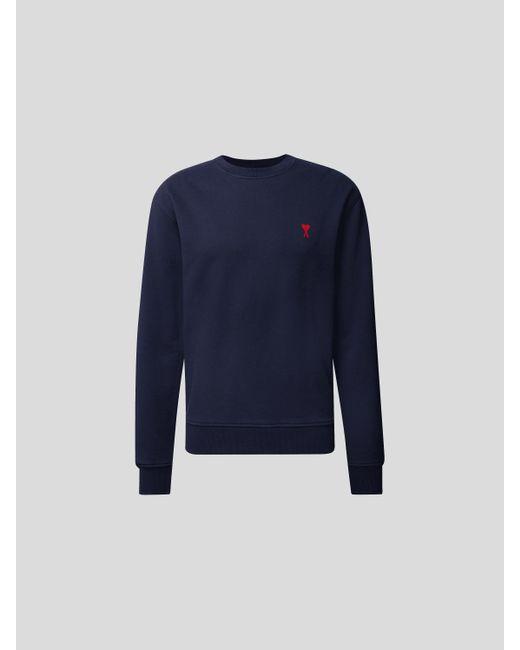 AMI Sweatshirt mit Logo-Motiv in Blue für Herren
