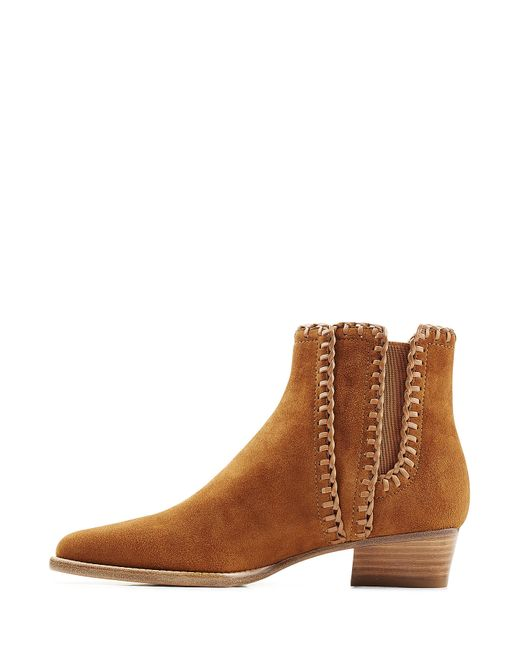 michael kors suede ankle boots brown in blue lyst