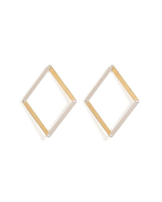 Delfina Delettrez - Metallic Silver Dettaille Unique Earrings - Lyst