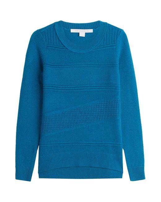 Diane von Furstenberg | Blue Wool Pullover With Cashmere | Lyst