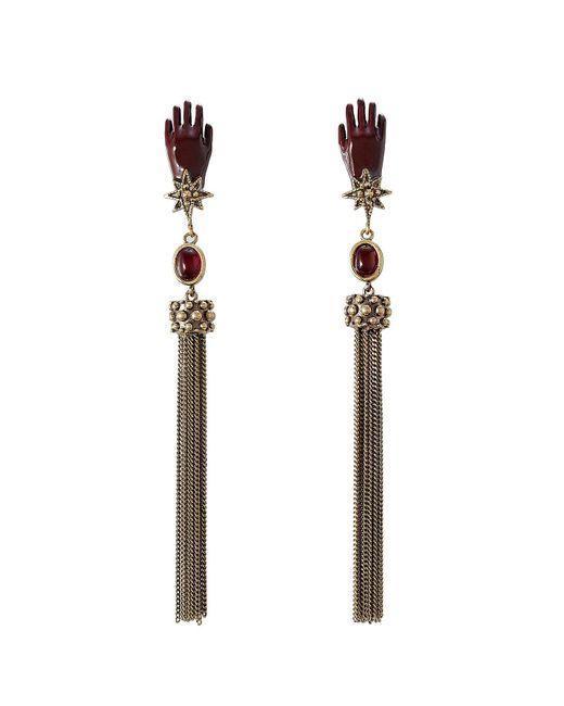 Roberto Cavalli | Multicolor Earrings With Tassels And Stones | Lyst