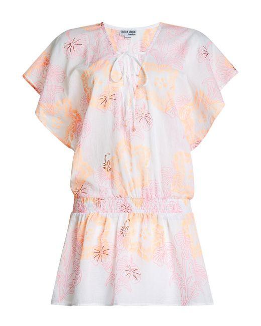 Juliet Dunn - Pink Printed Cotton Dress - Lyst