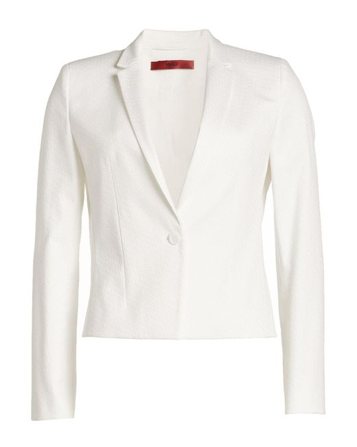 HUGO | White Jacket With Cotton | Lyst