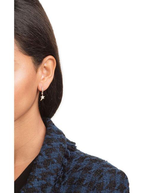 Diane Kordas | Metallic 18kt Rose Gold Earrings With White Diamonds | Lyst