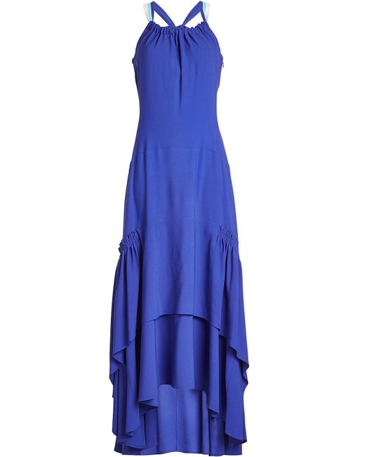 Peter Pilotto - Blue Tiered Maxi Dress - Lyst