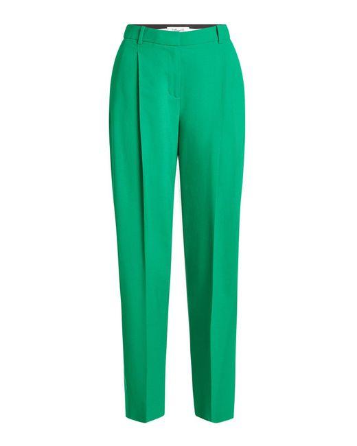 Diane von Furstenberg | Green Wool Pants | Lyst