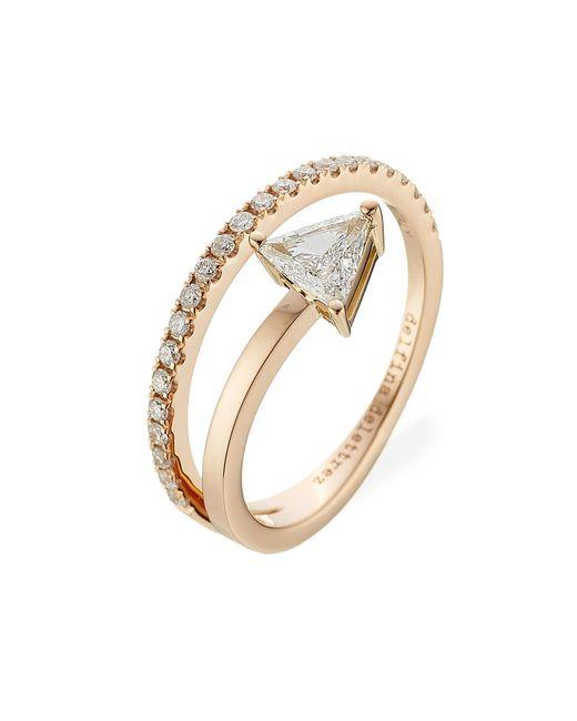 Delfina Delettrez - Metallic Marry Me 18kt Pink Gold Ring With Diamonds - Lyst
