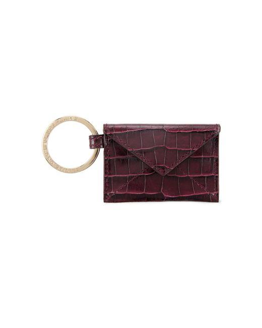 Smythson | Purple Embossed Leather Keyring | Lyst