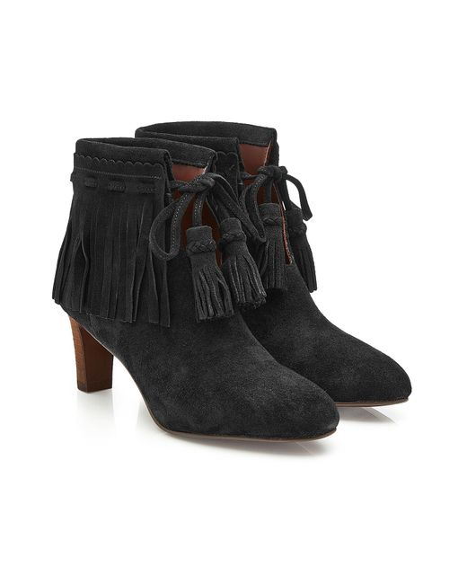 See By Chloé - Black Irina Suede Ankle Boots - Lyst