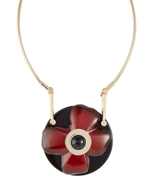Marni - Metallic Flower Pendant Necklace - Lyst