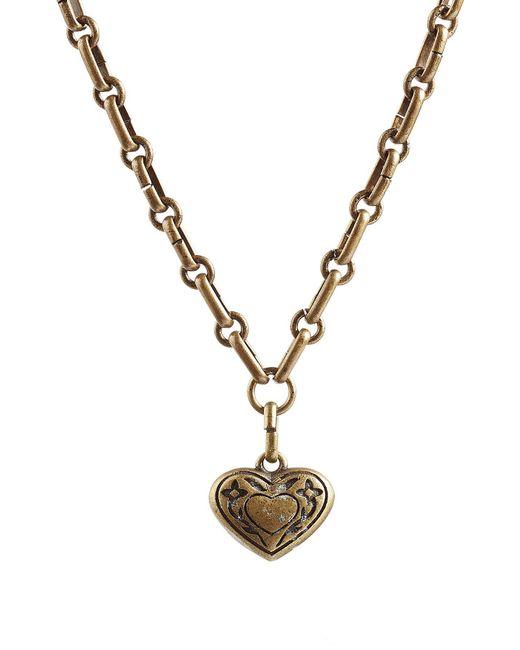 Etro   Metallic Heart Necklace   Lyst